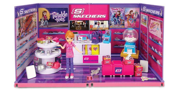 MiWorld Skechers Shoe Store Deluxe Playset (I bought this set on sale at Walmart for $15.)