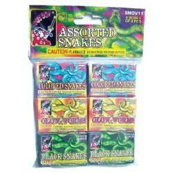 Fun Fireworks For The Family You Can Buy Online! | Assorted Snake Firework 36 Pcs