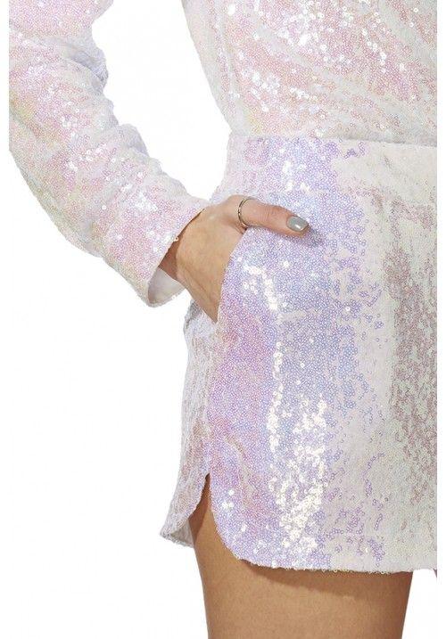 £40 Iridescent Sequin Shorts