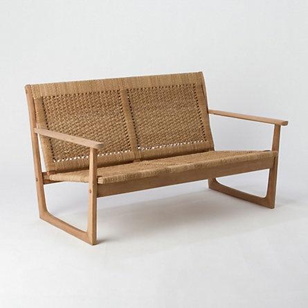 wood & rope love seat