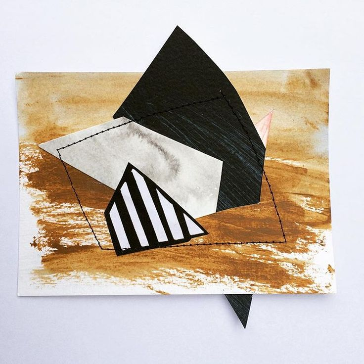 Studio play #slot #abstract #cut #assemble #geometric #acrylicabstract #paper #acrylicart #collage #stitched #build #painting #studio