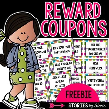 Are you looking for free or low-cost rewards for your students?  Here are 24 coupons you can use in your classroom.  Some of the rewards include homework pass, eat lunch with the teacher and a friend, sit by a friend for the day, wear a hat in class, skip morning work pass, and many more!