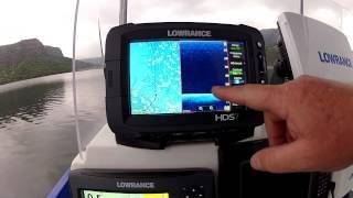 More features of this awesome touch enabled fishfinder / chartplotter. the HDS G2 Touch - Auto Contrast, via YouTube.