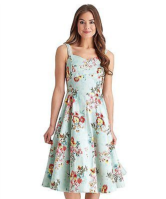 12, Mint Multi, Joe Browns Women's into the Night Summer Dress NEW