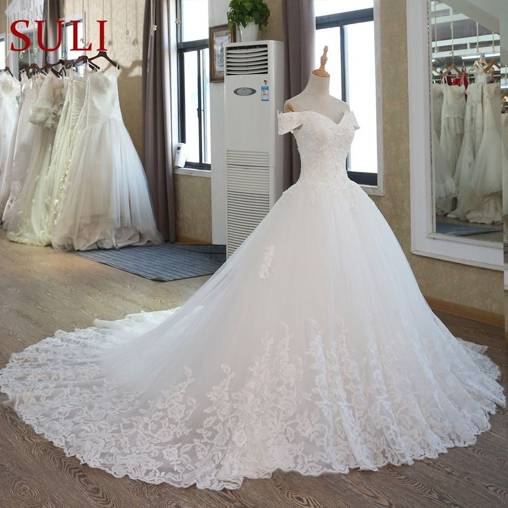 Ball Robe Bridal Attire Muslim Lace Marriage ceremony Gown