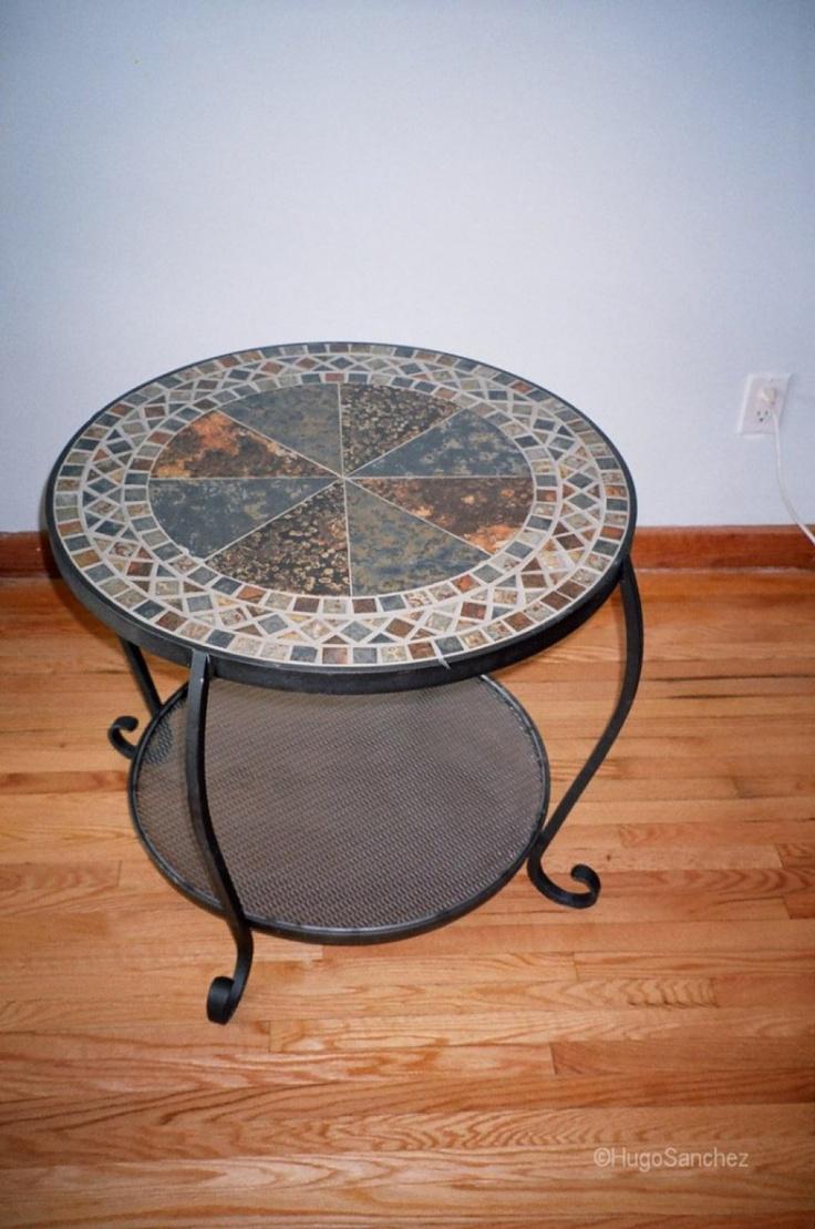 Custom slate coffee table | Céramiques Hugo Sanchez Inc