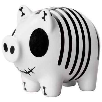 Black and white striped piggy