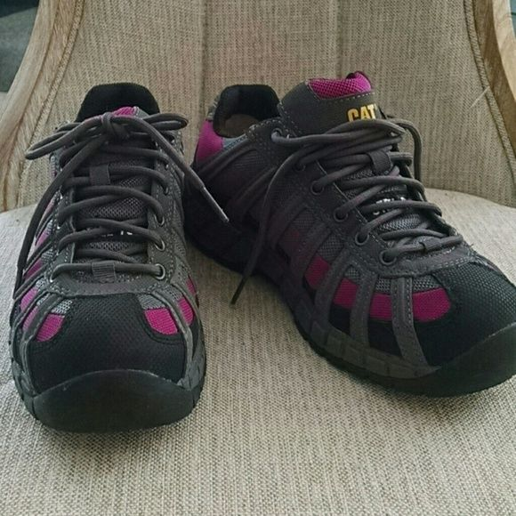 Cat steel toe tennis shoes.  NWOT Ergo comfort.  ..steel toe work shoes... Never wore Cat Shoes Athletic Shoes