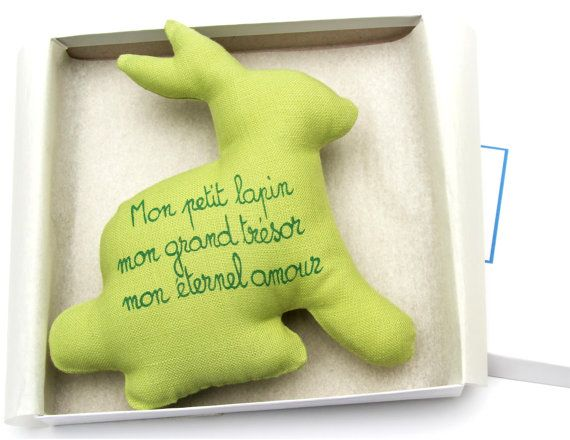 The 25 best french poems ideas on pinterest craft stencils easter gift baby boy gift baby girl gift baby rattle bunny with french poem baby shower gift easter bunny hypoallergenic rattle toy negle Images