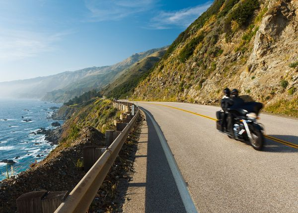 Picture of motorcyclists on Pacific Coast Highway, California