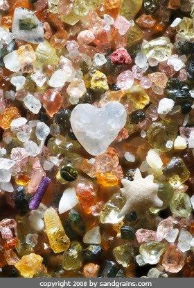 grains of sand- all unique: 250 Times, Sands, Oceansand, Magnified 250, Heart, Nature, Sand Magnified, Beach Sand