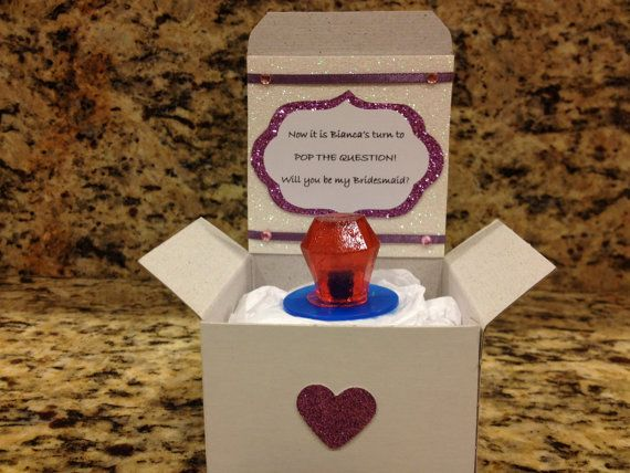 Will You Be My Bridesmaid Box with Ringpop - such a great idea