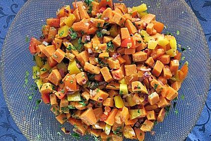 Süßkartoffelsalat mit Paprika und Ingwer, ein sehr schönes Rezept aus der Kategorie Kochen. Bewertungen: 14. Durchschnitt: Ø 4,3.