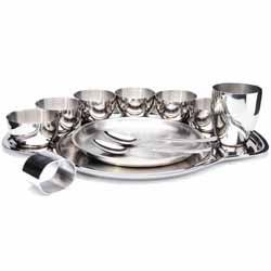 Thali Dinner Set - 81-Piece, 6-Person Stainless Steel Dinner Set