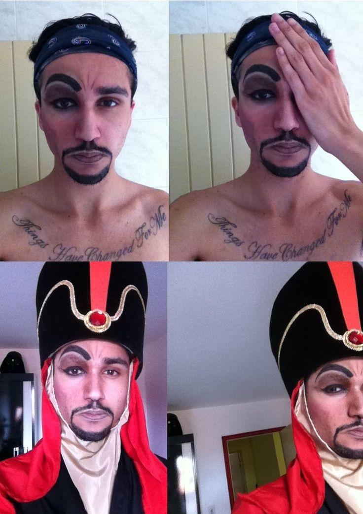 Disney - Jafar Makeup Test (only a half) by jaacksays on deviantART