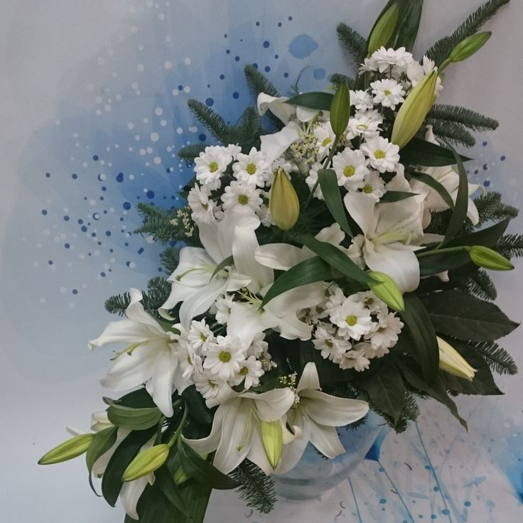 lilia,funeral,flowers