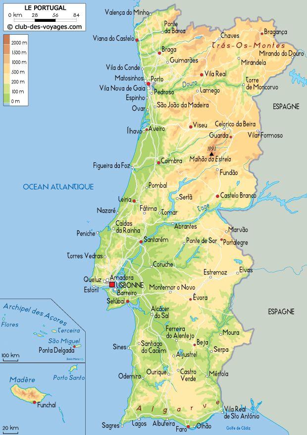 Carte duPortugal