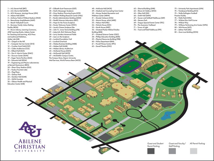 ACU Campus Map on Behance in 2020 Campus map, Campus, Map