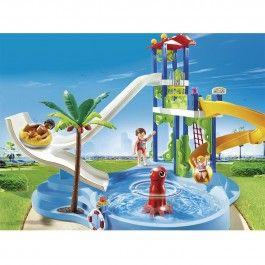 Parc aquatique avec toboggans géants Playmobil Summer Fun - 6669