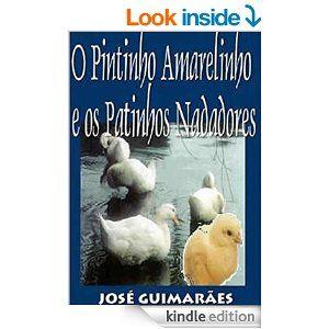 """O livro """"O Pintinho Amarelinho e os Patinhos Nadadores"""" conta a história de um pintinho que foi nadar com os patinhos.  Mas o pintinho não sabia nadar e os patinhos riram dele.  Só que depois os patinhos mudaram de ideia, depois de uma bela bronca da mãe deles."""
