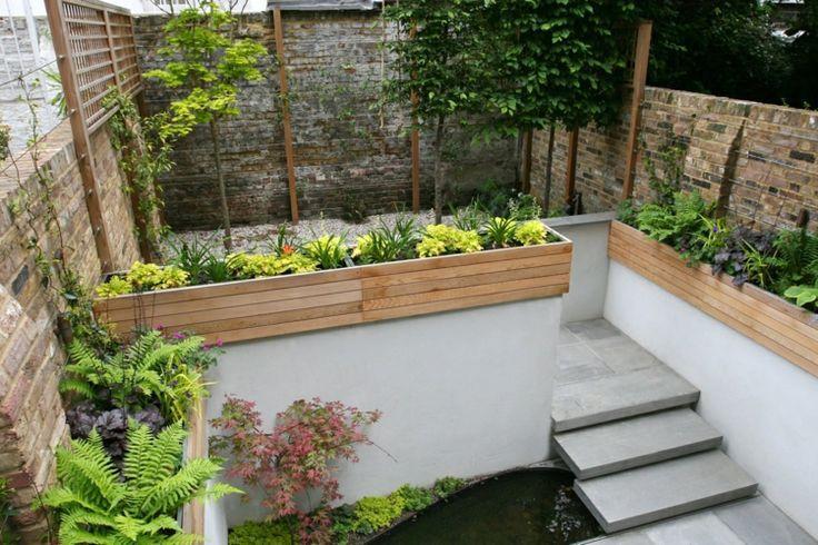Ideen Kleinen Garten Beton Farne Stufen Gestaltung Modern Schlicht Beton Farne Gestaltung Ideen Minimalist Garden Small Garden Design Patio Garden Design