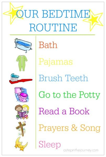 FREE printable for your toddlers bedtime routine