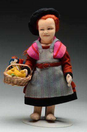 Редкая Итальянское Искусство Lenci Кукла.