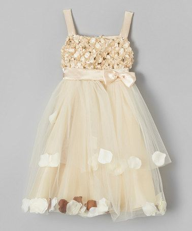 Another great find on #zulily! Champagne Petal Dress - Toddler & Girls by Bijan Kids #zulilyfinds