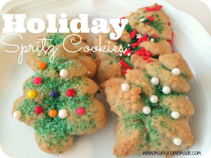 This traditional holiday favorite cookie is always fun to make. Spritz cookies make the holiday special and can be make any time of year.