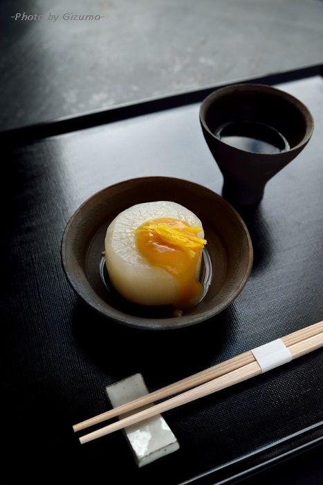 Furofuki Daikon, Simmered Japanese White Radish with Miso Sauce
