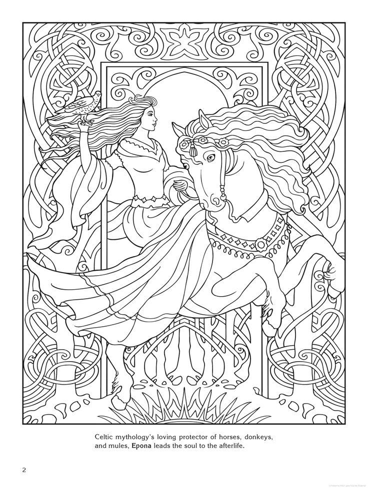 goddess coloring page epona celtic