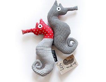 Wee Gallery   Wee Gallery Red Seahorse Soft Toy