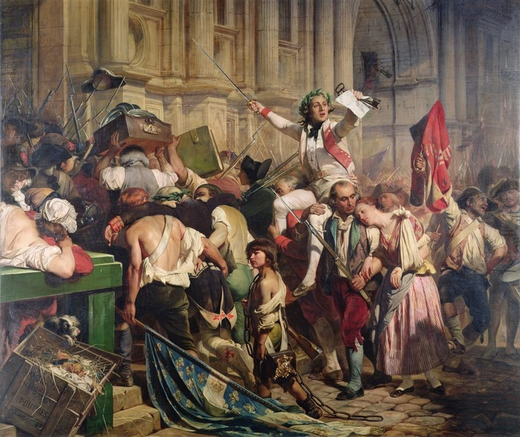 The Conquerors of the Bastille before the Hotel de Ville in 1789 - painted by PAUL DELAROCHE