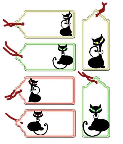 Cat Tags to Print