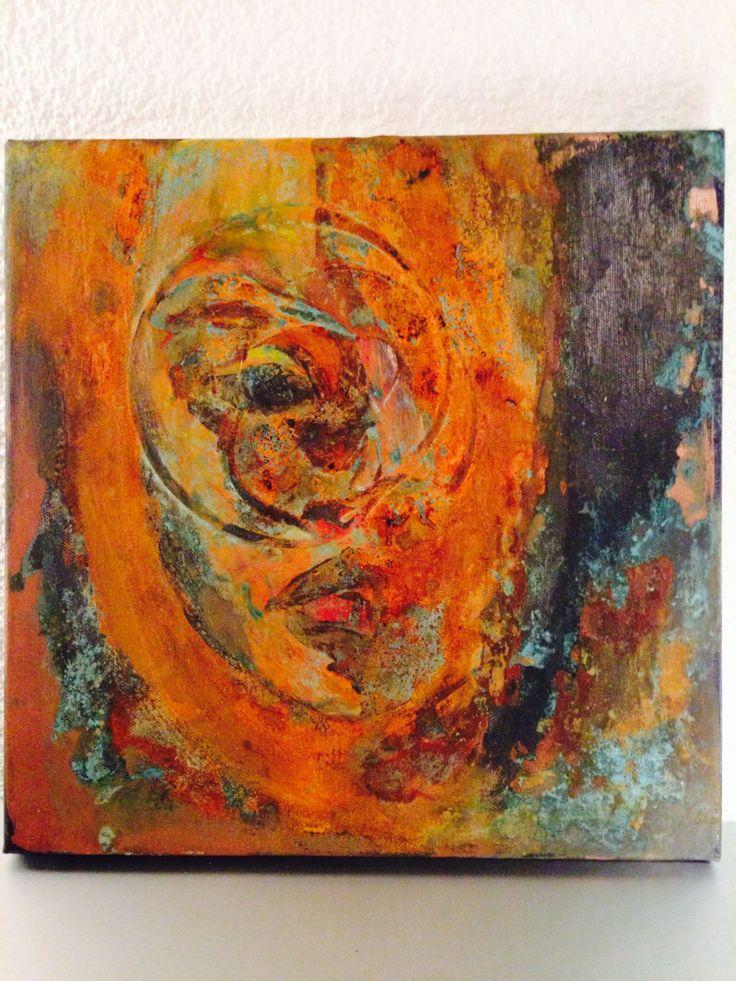 face (acryl/rust)