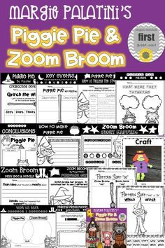 Fun literature connections for Piggie Pie and Zoom Broom.