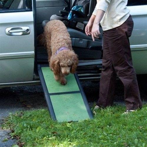 Pet Gear Short Bi Fold SUV Car Dog Cat Half Ramp Up To 200 Lbs Sage