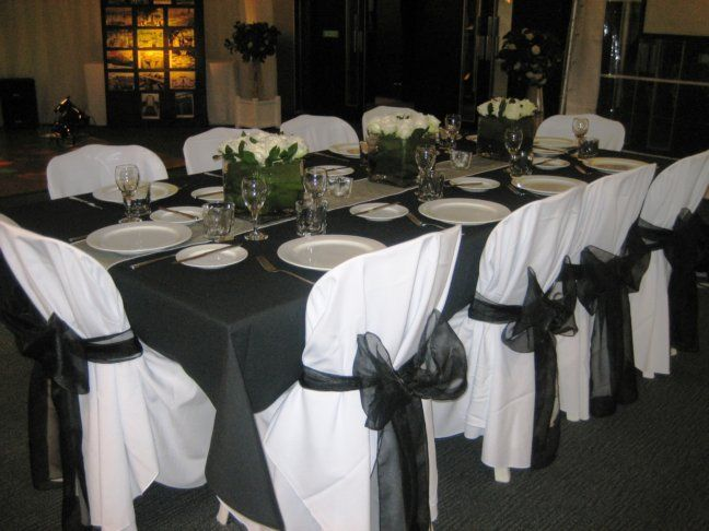 Black Tie Gala Decorations Pinterest Black Napkins