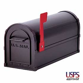 """Residential Heavy Duty Outdoor Mailbox. Rural curbside mailbox constructed of heavy duty aluminum metal. Mailboxes are built with a 1/8"""" thick extruded aluminum body including a 1/8"""" thick die cast aluminum front door and rear cover. Each rural mail box features a durable powder coated finish available in four (4) decorative colors: Black, Green, Beige or White.  http://www.xpblocker.com/aluminumresidentialmailbox-p-189.html"""