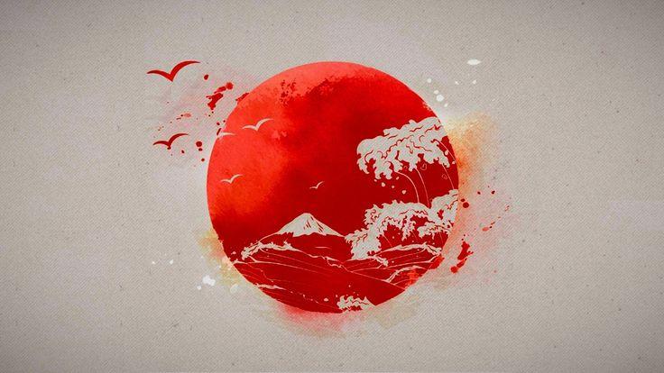 General 1920x1080 Japanese Sun drawings