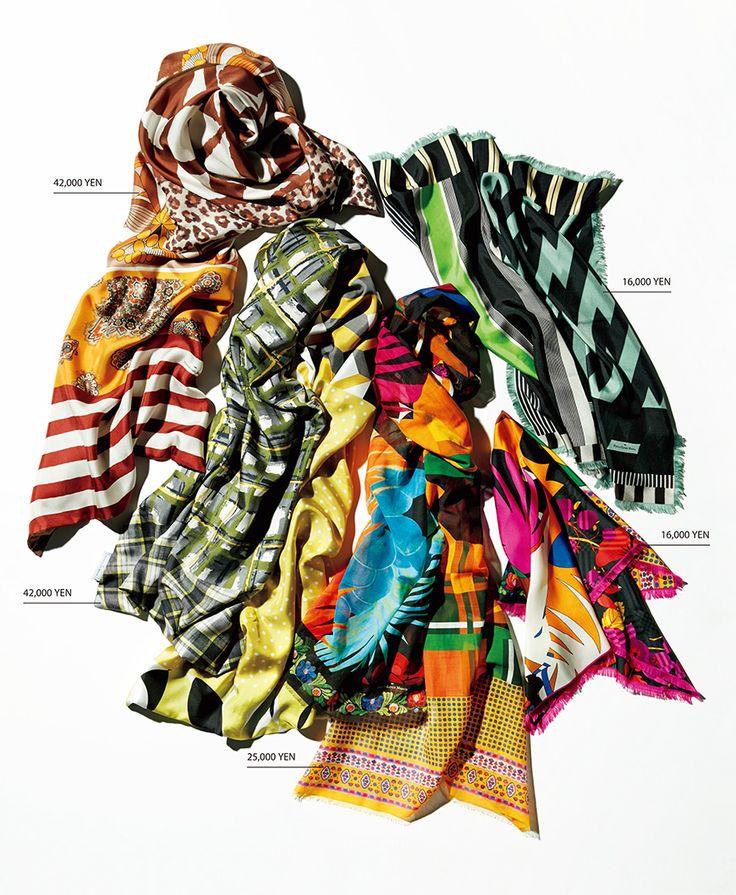 着る服の数が少なくなるのに比例して、着こなしが薄味になりがちな春。そんなときに格好のスパイスになるのが、フランス生まれのこんなストールだ。