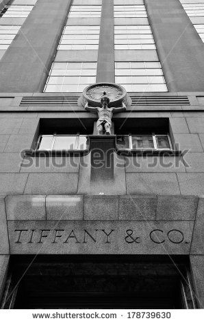 NEW YORK CITY - JUN 24: Tiffany & Co. Building on Wall Street in the Financial District in NYC on Jun 24, 2008. A luxury American multinational jewelry and silverware corporation.