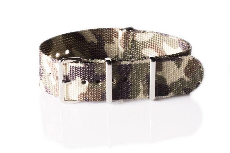 Premium NATO Strap Camouflage Savannah - Cheapest NATO Straps   - 1
