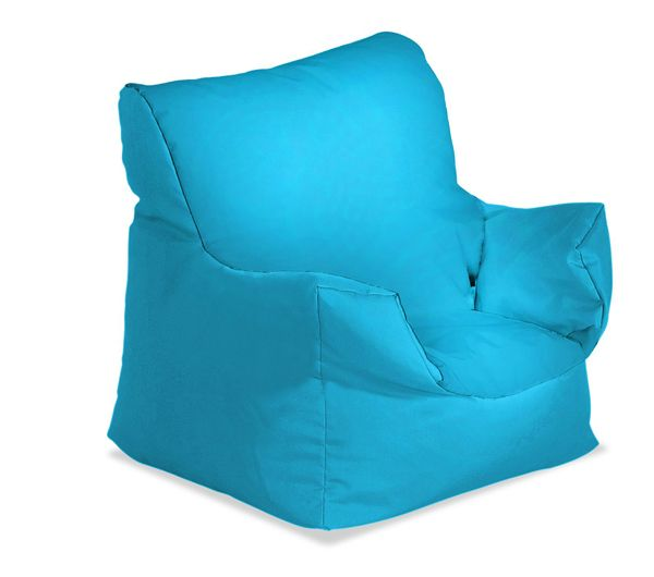 Blue Leather Bean Bag Covers Only