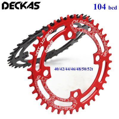 DECKAS Narrow Wide Chainring BCD104mm Single Speed MTB  Bike Chainring 40t52t