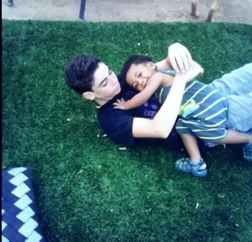 Cameron Boyce and his little brother
