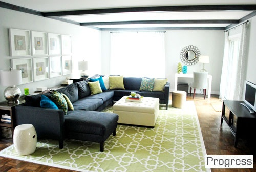 the perfect functional room for hanging out with friends. >> Great for basement space!