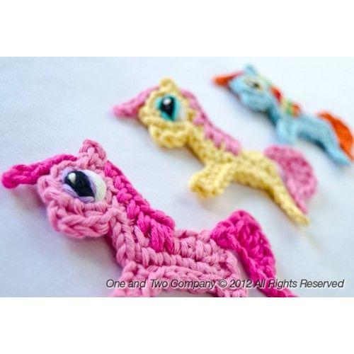 Pony PDF Applique Crochet Pattern - $ 3,75  https://www.facebook.com/oneandtwocompany