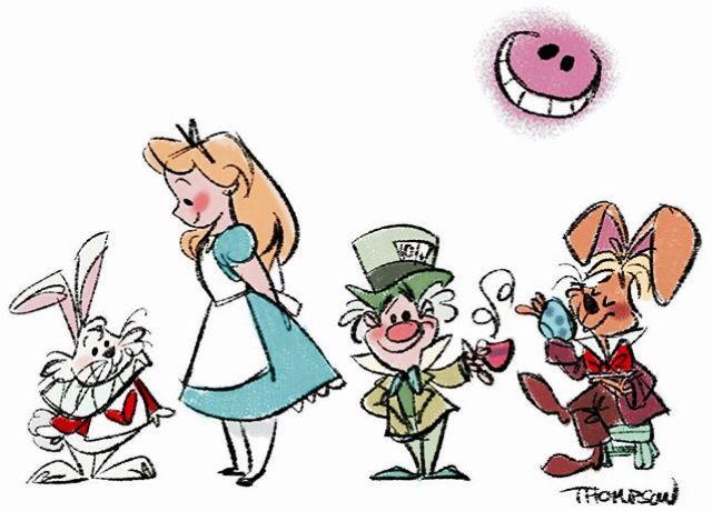 SteveThompson Art | Alice in Wonderland | Disney | Alicia en el país de las maravillas | @dgiiirls