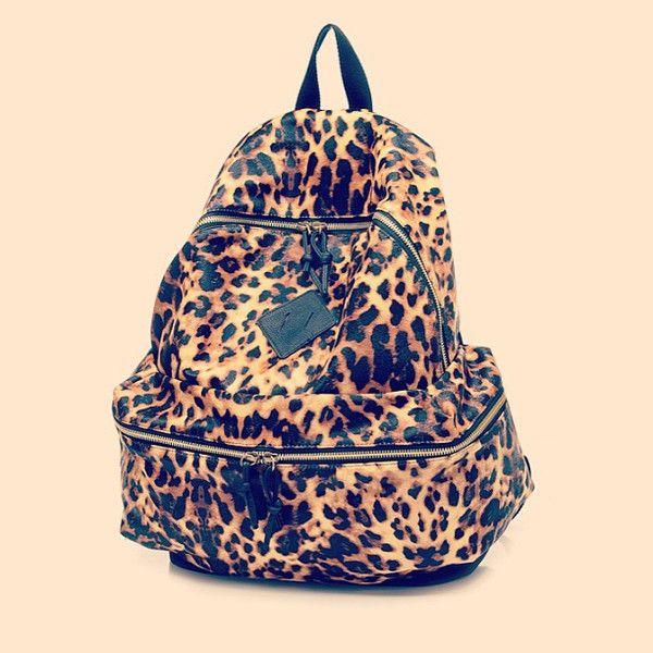 Animal Print Backpack Bag Bookbag Cheetah Leopard Tiger